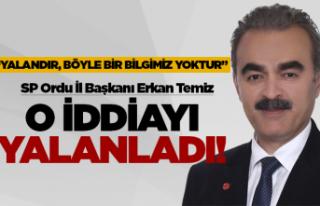 SP İl Başkanı Temiz yalanladı!