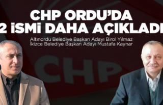 CHP Ordu'da 2 ismi daha açıkladı