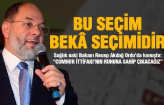 """Recep Akdağ: """"Bu seçim beka seçimidir"""""""