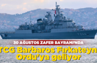 TCG Barbaros Ordu'ya geliyor