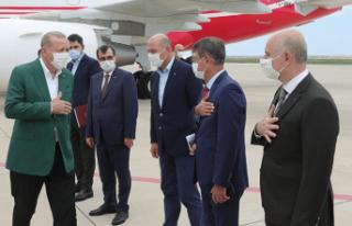 Cumhurbaşkanı Erdoğan Ordu'da