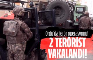 Ordu'da 2 terörist yakalandı!