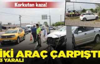 Ordu'da iki otomobil çarpıştı: 3 yaralı
