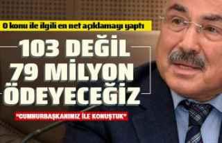 """Başkan Güler: """"103 değil 79 milyon ödeyeceğiz"""""""