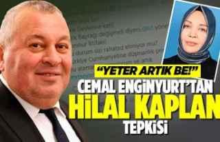 Cemal Enginyurt'tan 'Kaplan' tepkisi!