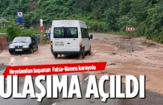 Fatsa-Kumru karayolu yeniden ulaşıma açıldı