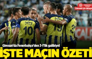 Fenerbahçe'den 3-1'lik galibiyet