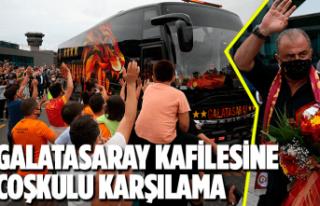 Galatasaray kafilesi Giresun'a geldi
