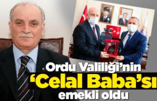 Valiliğin 'Celal Baba'sı Celal Eker emekliye...