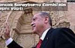 Bir türlü bitmeyen o camiyi Erdoğan açtı