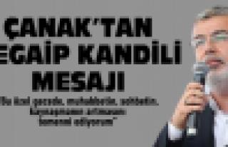 Çanak'tan Kandil mesajı