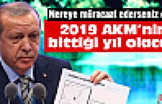 Cumhurbaşkanı Erdoğan'dan AKM çıkışı