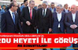 Cumhurbaşkanı Erdoğan'la ne konuştular?