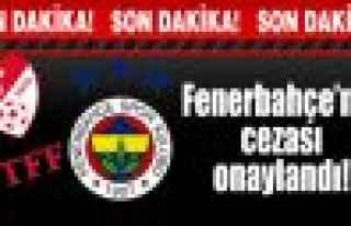 Fenerbahçe'nin cezası onaylandı!