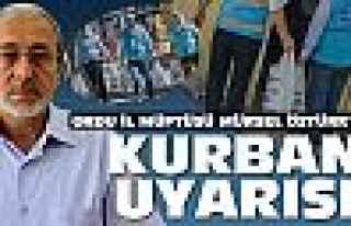 Ordu İl Müftüsü Öztürk'ten kurban uyarısı