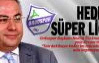 Orduspor'da hedef Süper Lig!