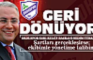 Türkmen'den şartlı geri dönüş!