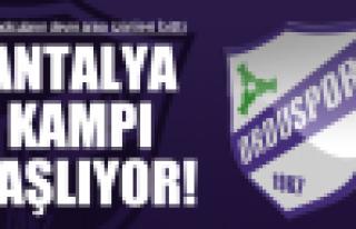 Orduspor'un Antalya kampı başladı