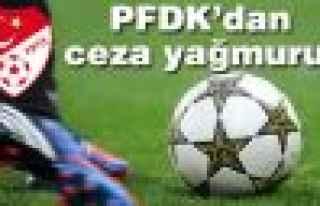 PFDK, yine ceza yağdırdı!