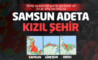 En çok vaka artışı Samsun'da, en az artış Ordu'da