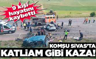 Komşu Sivas'ta katliam gibi kaza!