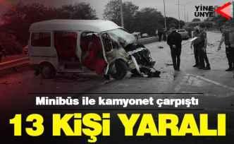 Ünye'de feci kaza! 13 yaralı