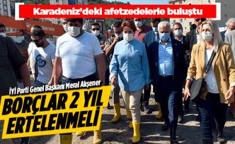 Akşener Karadeniz'deki afet bölgesinde