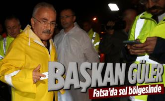 Başkan Güler Fatsa'da felaket bölgesinde