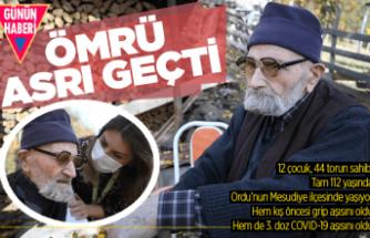 112 yaşındaki Mehmet Dede, üç doz aşısını oldu