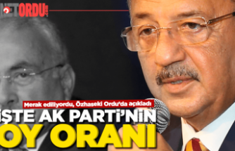 Özhaseki AK Parti'nin oy oranını Ordu'da açıkladı!