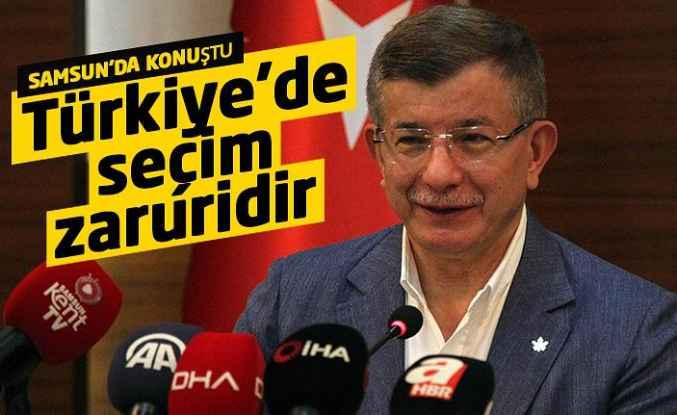 """Davutoğlu: """"Türkiye'de seçim zaruridir"""""""