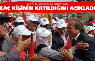 CHP'li Torun mitinge kaç kişinin geldiğini...