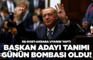 Erdoğan'dan partililere 'eş-dost'...