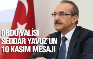 Vali Yavuz'un 10 Kasım mesajı