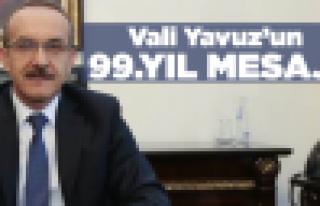 Vali Yavuz'dan 99'ncu yıl mesajı