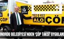 Altonordu Belediyesi'nden 'Çöp Taksi' uygulaması