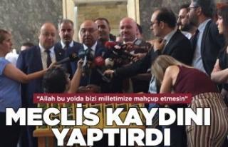AK Partili vekiller Meclis kayıtlarını yaptırdı
