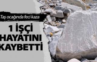 Fatsa'daki taş ocağında feci kaza
