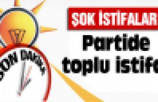 Ak Parti'de toplu istifa!