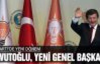 Ak Parti'de yeni Genel Başkan Ahmet Davutoğlu