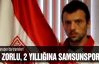 Ali Zorlu, 2 yıllığına Samsunspor'da!