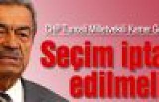 "CHP'li Kamer Genç:""Seçim iptal edilmeli"""