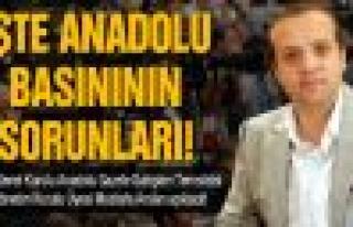 İşte Anadolu basınının sorunları!