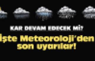Meteoroloji'den son uyarılar!