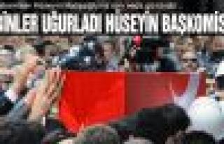 Şehit Başkomiser Hüseyin Hatipoğlu'na son veda