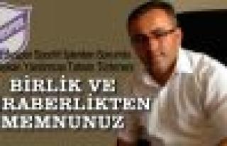 """Tahsin Türkmen: """"Birlik ve beraberlikten memnunuz"""""""