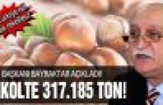 Türkiye'nin fındık rekoltesi 317.185 ton!