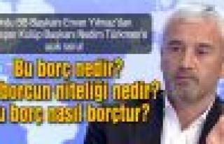 Yılmaz'dan, Türkmen'e açık soru: Bu nasıl borçtur?...