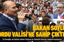 Bakan Soylu Vali Yavuz'a sahip çıktı!
