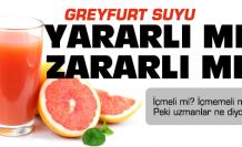 Greyfurt suyu içmeli misiniz?